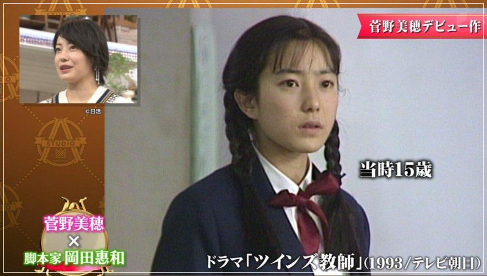 デビュー当時の菅野美穂