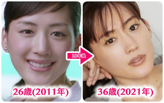 綾瀬はるか比較(10年)