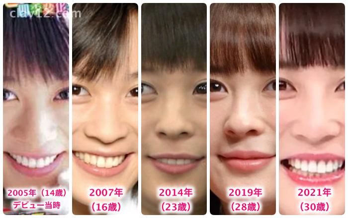 北乃きいの鼻の変化
