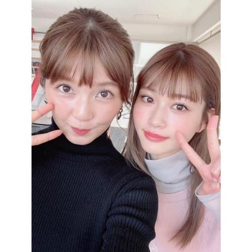 生見愛瑠さんと宇野実彩子さん