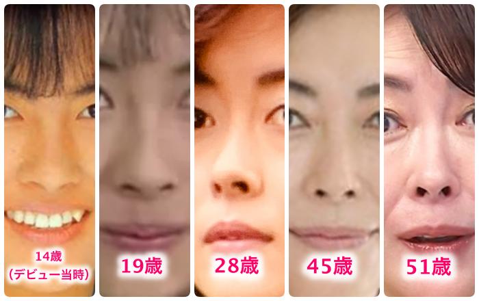 中山美穂鼻の変化