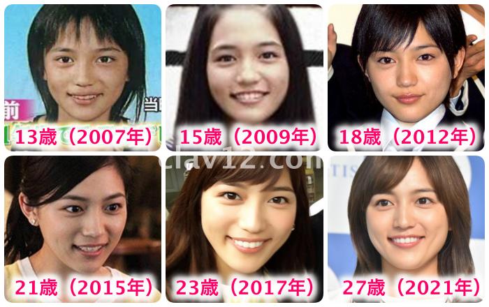 川口春奈の顔の変化