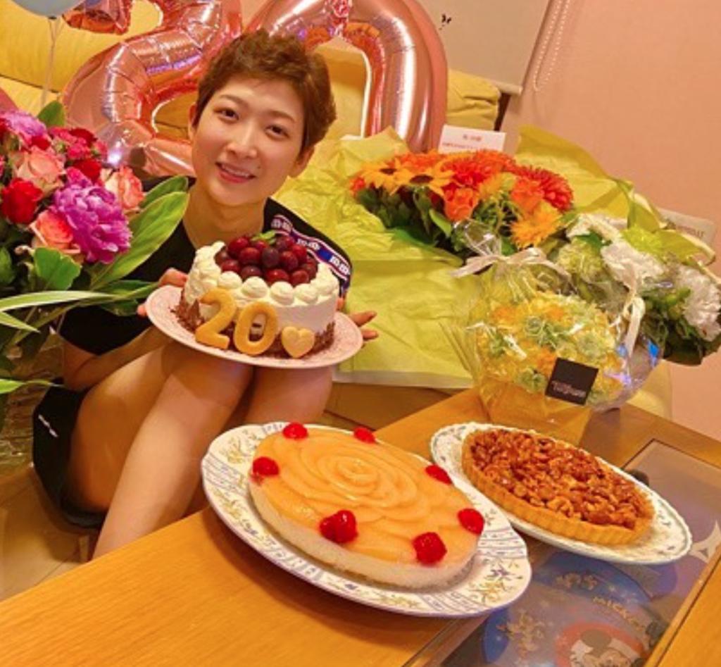 池江璃花子の姉のケーキ