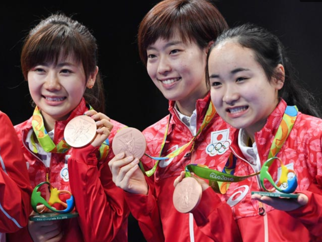 リオ五輪で銅メダルの伊藤美誠