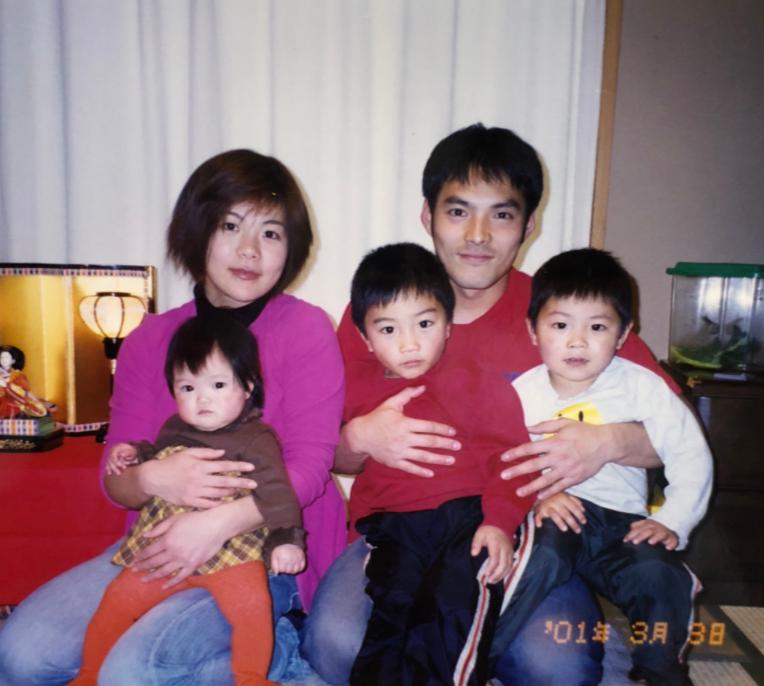 幼少期の阿部さん家族
