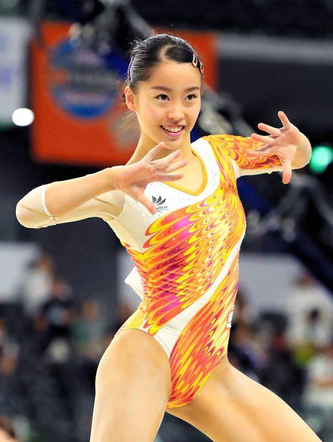 競技中の畠田瞳さん