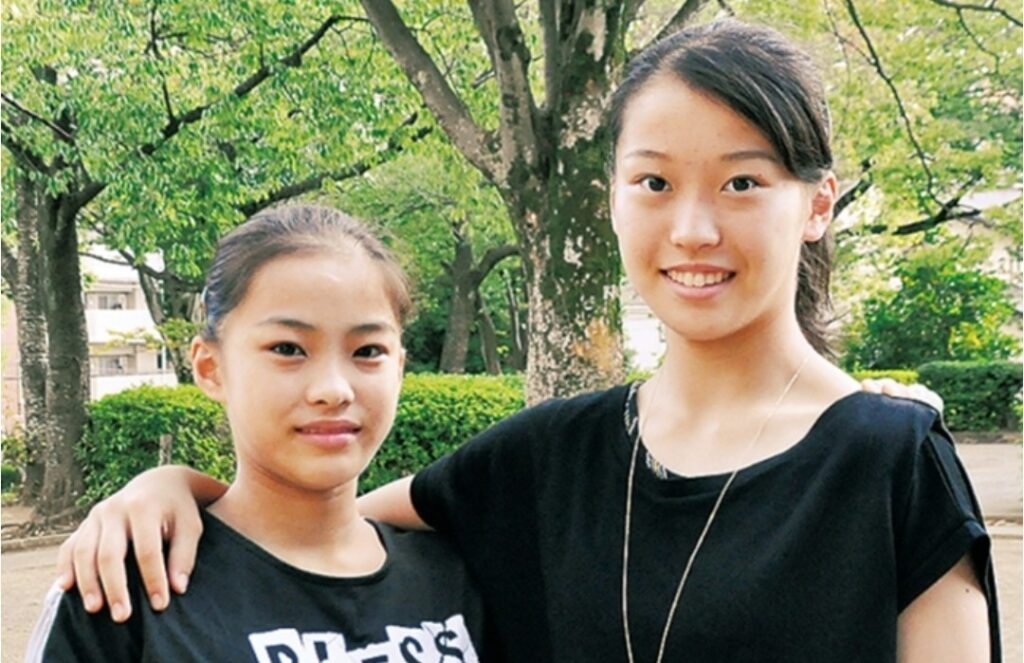 左︰畠田千愛さん 右︰畠田瞳さん