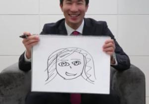 桐生祥秀の嫁の似顔絵