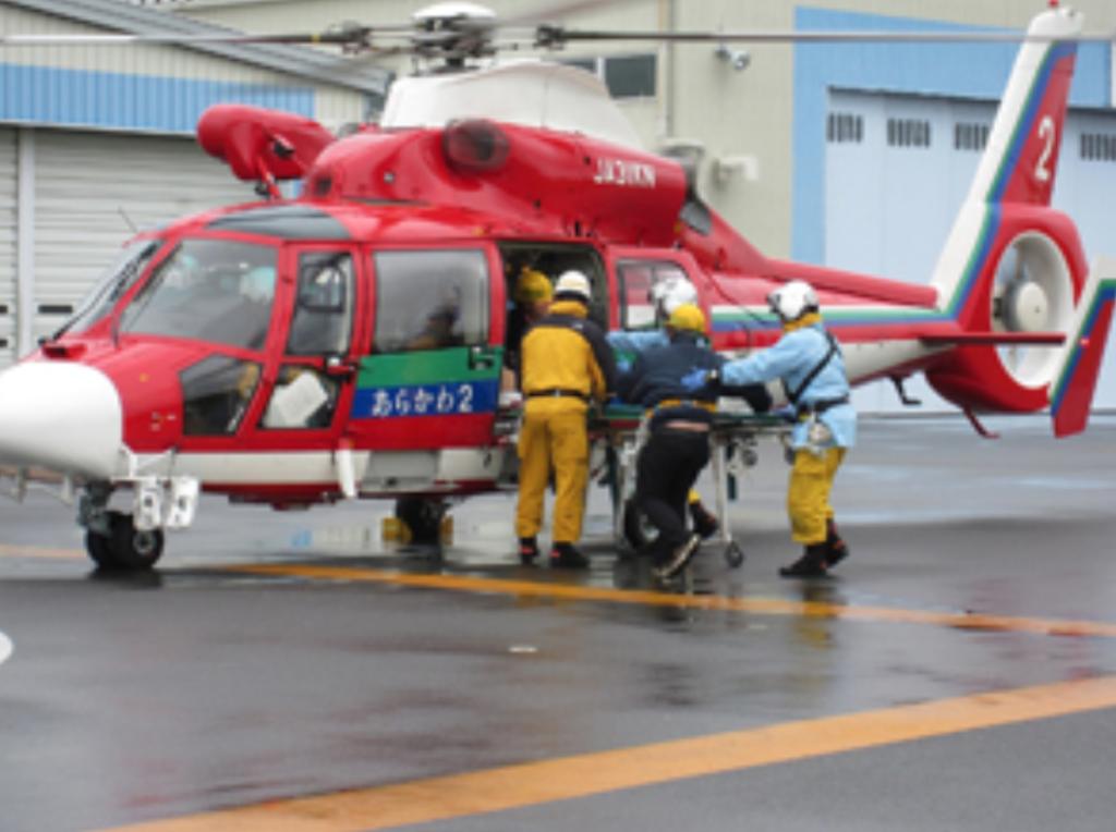 本田航空の埼玉県防災ヘリコプター