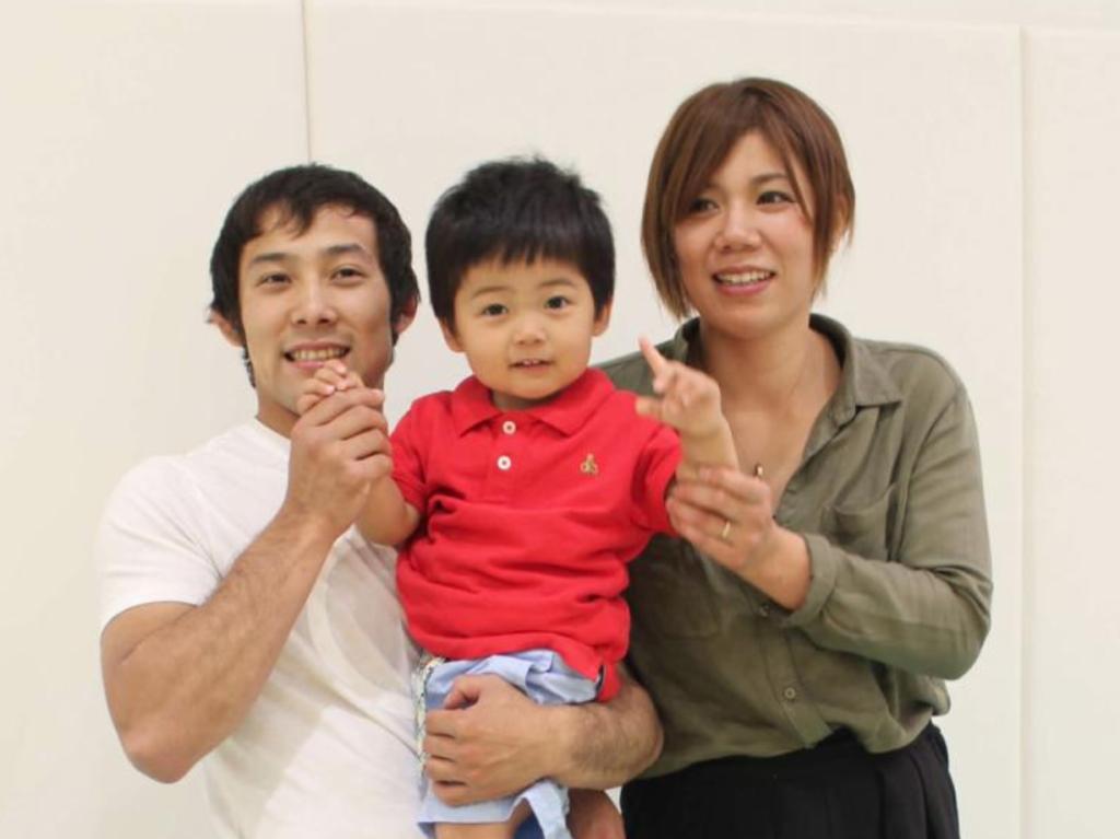 高藤直寿と嫁と子供