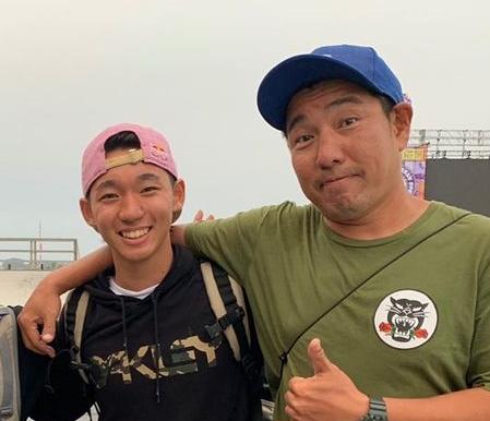 中村輪夢さんと父・辰司さん