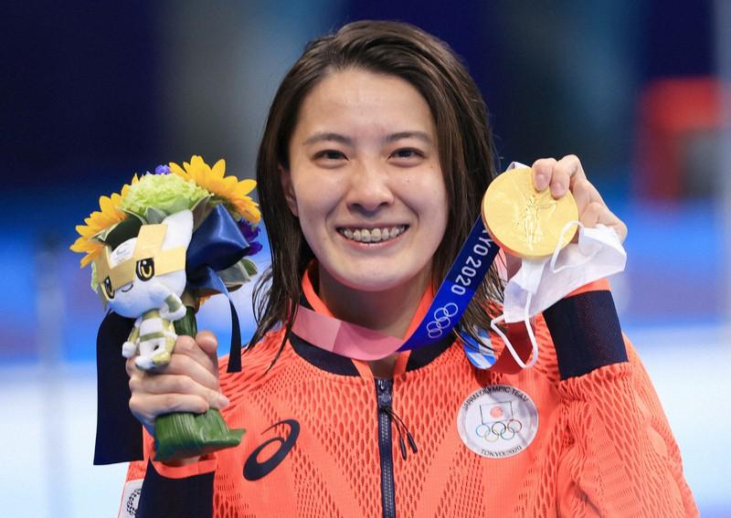 東京オリンピックで金メダルを獲得した大橋悠依さん