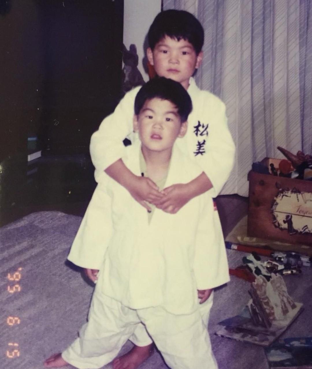 幼少期の大野将平選手と兄
