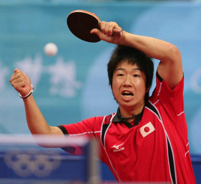 北京オリンピックの水谷隼さん
