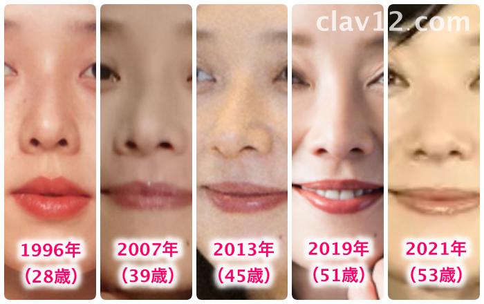 大塚寧々の鼻の変化
