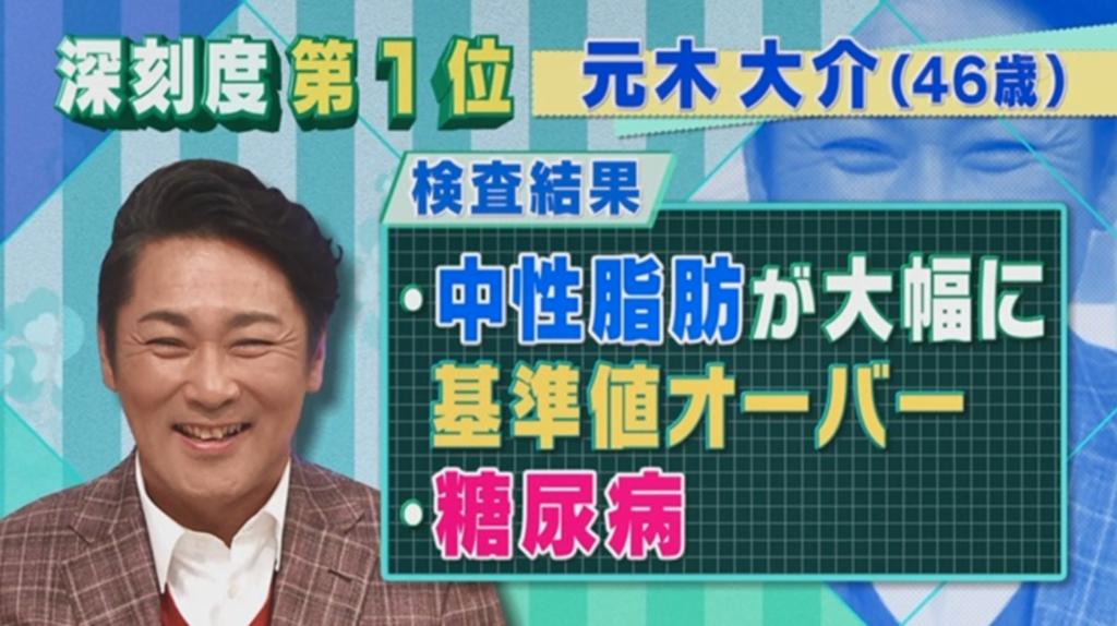 糖尿病の元木大介