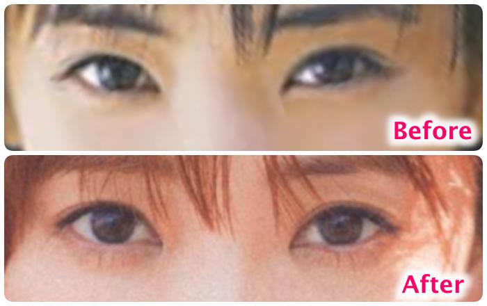 倉科カナの目の比較