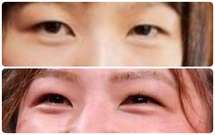 川井友香子の目の変化