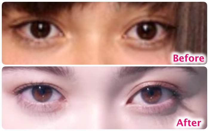 玉城ティナの目の変化