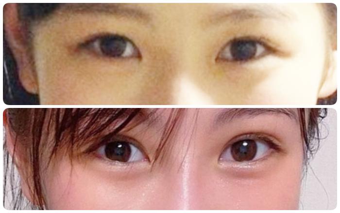 西野未姫の目の比較