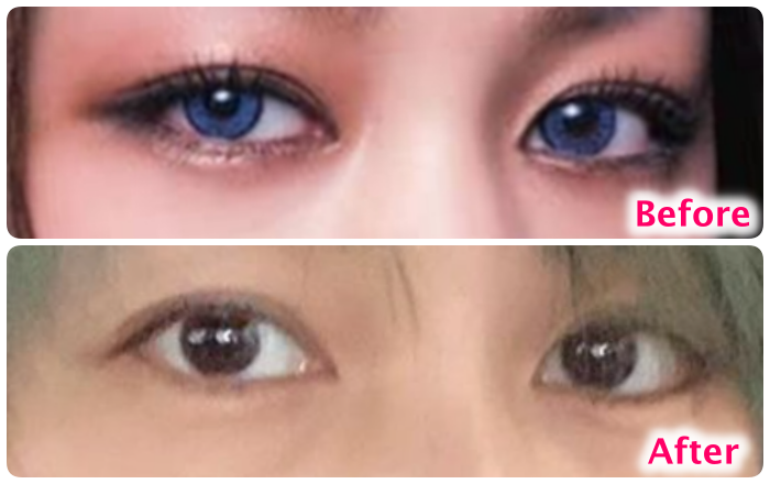 中島美嘉の目の変化