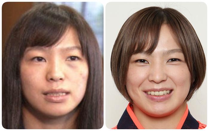 川井友香子の輪郭の変化